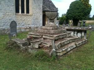 Tombstone of Revd. Samuel and Mrs Anne Gwinnett